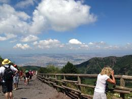 Walking up Mt Versuvius , Marianna A - July 2014