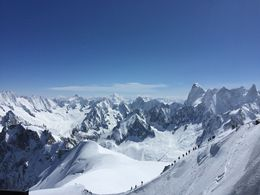 view from the top of Aiguille du Midi , Kenzie - August 2016
