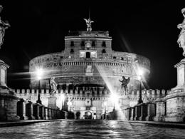 Ghost at Sant'Angelo bridge, Rome , Sergio G - February 2017