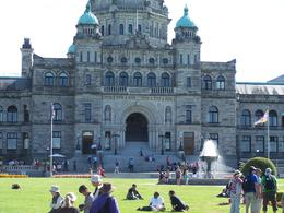 Legilative Building in Victoria Canada , Gerald and Mary - August 2012