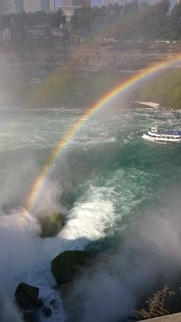 One of the views to the falls with a rainbow , ana S - September 2016