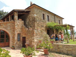 Our group of 7 about to enter the home of one of the vintners for lunch and wine tasting. , Frank V - July 2013