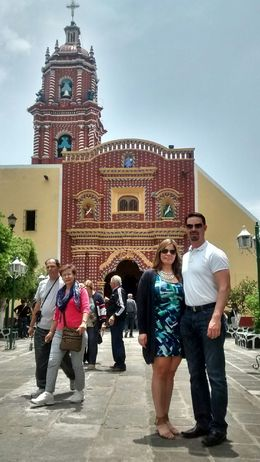 Visiting one of the many churches in Cholula Puebla,...except this one is made out of gold. , Juan Eduardo G - April 2016