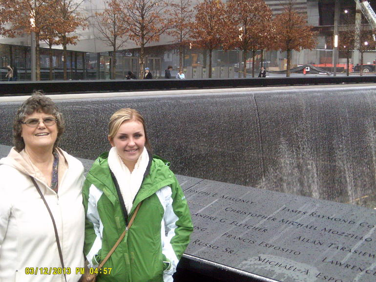 Jade and I at the 911 Memorial - New York City