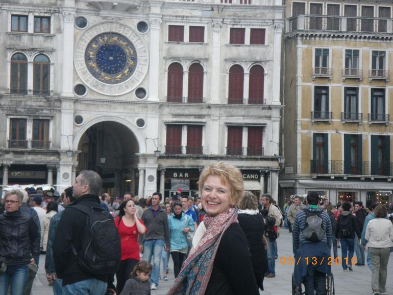 Kay in San Marco Square - Venice