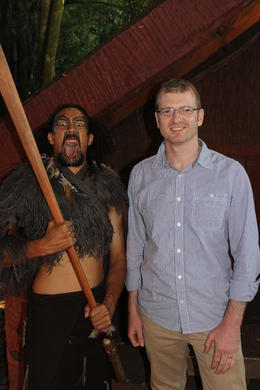 At the Tamaki Maori village we met the Maori tribe and they taught us games and dances. , Dr Adam J B - March 2013