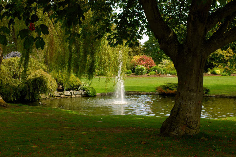 Peaceful park with fountain: Beacon Hill Park - Victoria