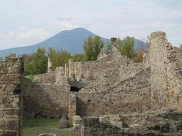 Pompeii ruins with Mt Vesuvius in background , Willem Hoffmann - November 2013