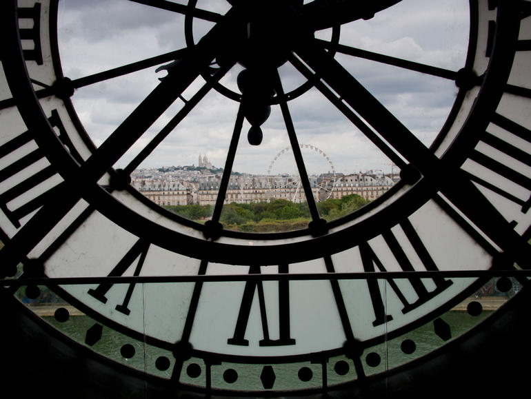 Through the clockface at Musee d'Orsay - Paris