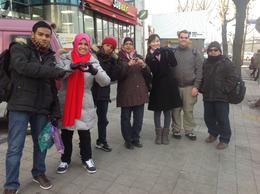 With Catherine and tour group members in Insadong. , Samsiah A - January 2014