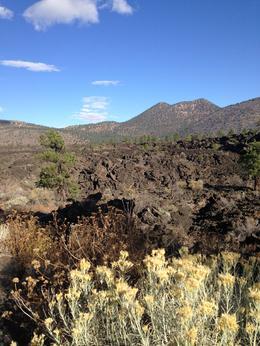 Hopi Sacred Hills in background of the lava flow , Letricia G L - November 2016