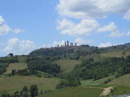 View from winery, with San Gimignano in the background , Amy F - June 2017