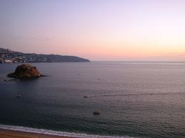 Beautiful beach sunset on Acapulco Bay , Leah - May 2011