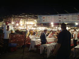 Djemaa El Fna food stalls, Emily - November 2013