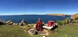 Priest doing a ceremony on Sun Island, Bandit - July 2014