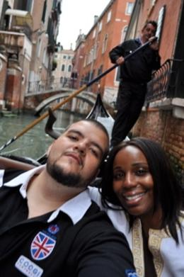 The Rodrigues' enjoying an afternoon Gondola Ride with Serenade in Venice!, Nicole R - May 2010