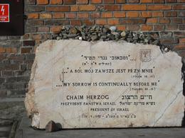 Stones on the heart of mankind - memorial at Auschwitz - September 2011