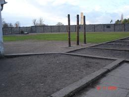 The hanging posts at Sachsenhausen - November 2008