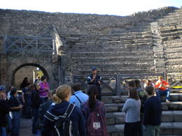 Our guide Andre describing the Theatre in Pompei. , Salvador Z. - November 2012