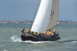 Dutch fishing boat heading to sea. , Peter R - July 2015