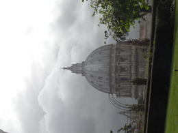 View of Saint Peter's Basilica from the Vatican Gardens after a thunder storm. , Wanda S - April 2014