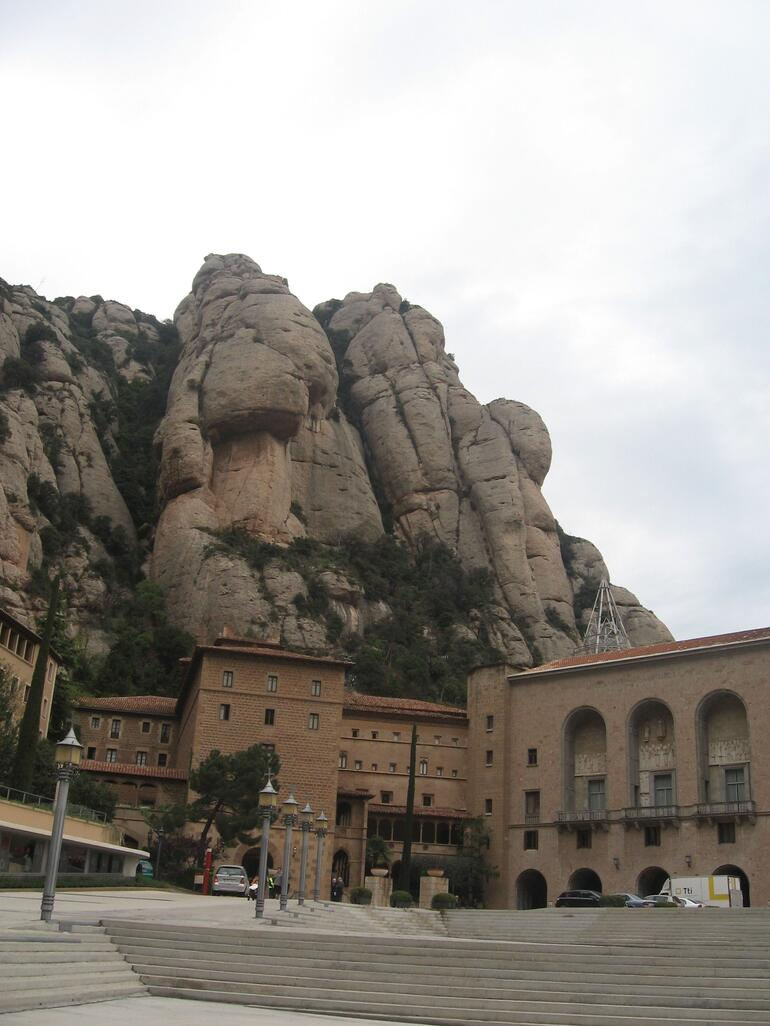 View of Monastery at Montserrat - Barcelona