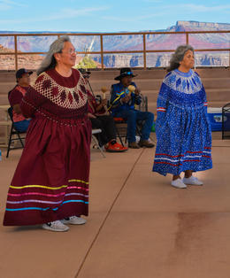 Hualapai Indians performing at Eagle Point , Barbara R - February 2017