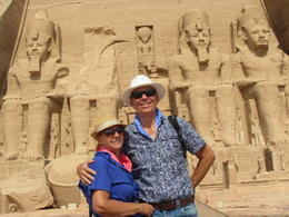 Clyde and Terry at Abu Simbel, this trip was optional. , Clyde C - September 2017