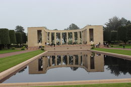 A view of the memorial at the American cemetery in Normandy. , HARRIET R - May 2016