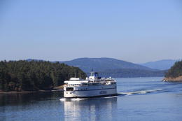 Photo of ferries passing in the harbor. , Margaret F - September 2014