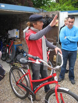 This was our tour guide Kit, giving us instructions on bike safety. , Meredith P - May 2013