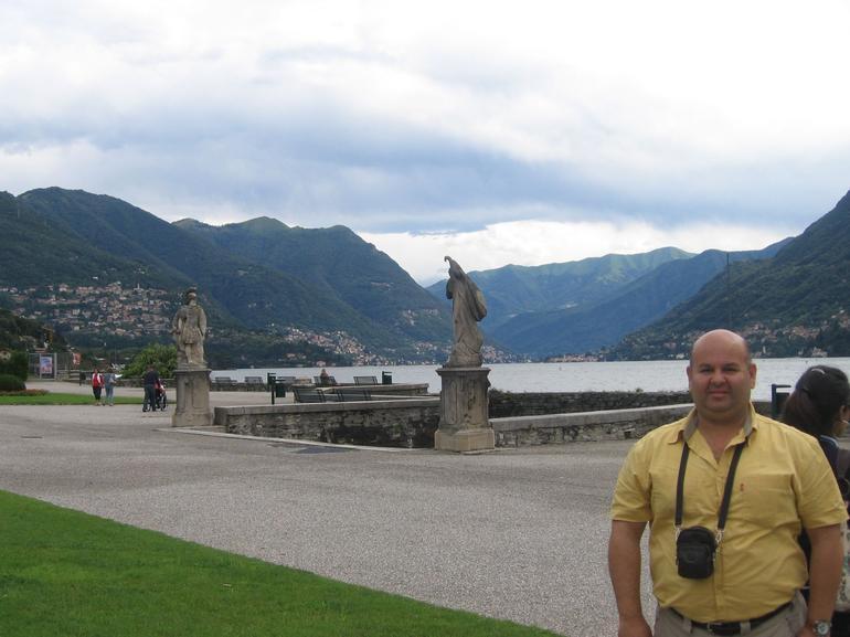 On the bank of Lake Como -