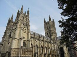 Nice wide shot of the outside of Canterbury Cathedral , Barbara W - October 2013