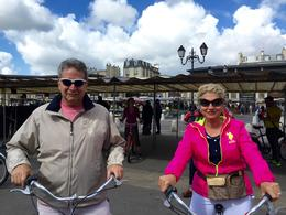 My husband and myself after shopping for lunch, ready to explore Versailles by Bike!! , Dr Gary Z - August 2016