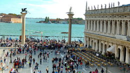 The famous piazza as seen from the top of the San Marco Basilica , C S - October 2015