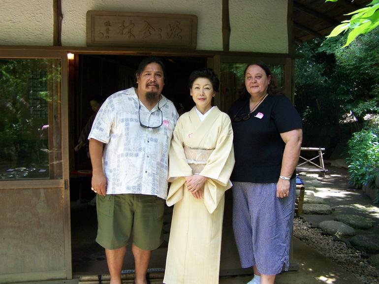 Picture in front of the building we had tea cermony in - Tokyo