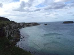 A look back at the cliffs on the walk down to the Carrick-a-Rede rope bridge , Shane B - October 2014