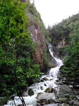 One of the many beautiful waterfalls seen on the Skagway tour. , Christopher G - June 2016
