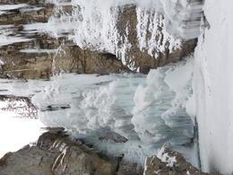 Frozen Falls at end of Johnston Canyon Walk , Prozzz - December 2016