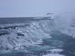 Gulfoss, with windchill it was about -15 , Keeley M - March 2011