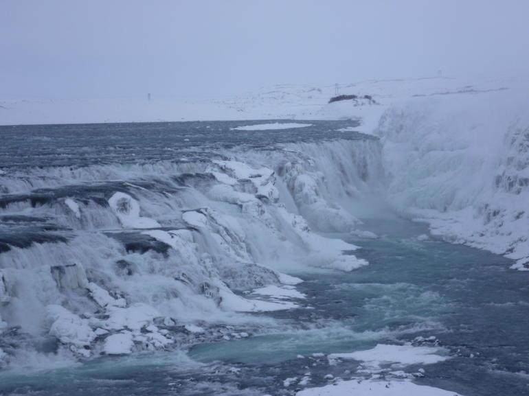 Gulfoss, with windchill it was about -15 - Reykjavik