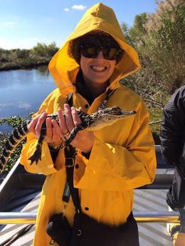 Susan holding a 2 year old alligator! , Michael H - December 2013