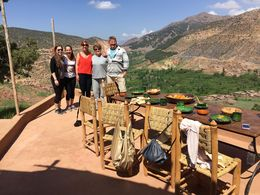 Lunch in a Berber village with a spectacular view , Janey S - June 2016