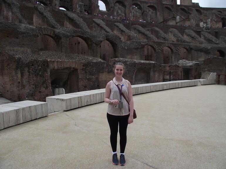 Colosseum wooden arena floor - Rome