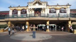 Me in front of Disneyland Paris entrance , Louise W - March 2012