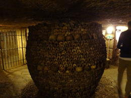 A keg-shaped pillar of bones enhances this room deep in the Catacombs. , Heather P - August 2012