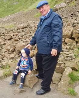 Joe and Grandson Conor at Giants Causeway , Joseph L - August 2015