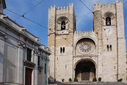Santa Maria Maior de Lisboa or Se de Lisboa Cathedral of Lisbon and the oldest church in the city - November 2011