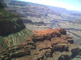 Grand canyon from first overlook stop... taken with a cell phone camera, so you can only imagin it in real life - May 2010