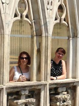 Walking up the steps of the duomo. , Erin M - July 2013